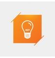 Light bulb icon Lamp E27 screw socket symbol vector image vector image