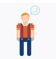 Man Icon With Speech Balloon vector image vector image