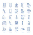 medicines dosage forms line icons pharmacy vector image vector image
