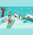 merry christmas collection background with cute vector image vector image