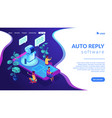 messenger chatbot isometric 3d landing page vector image vector image