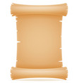 old paper scroll vector image vector image