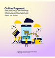 online payment concept with people character for vector image vector image