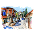 original watercolor painting on paper vector image vector image