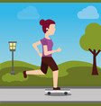 people sport activity vector image
