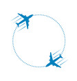 plane and path vector image vector image
