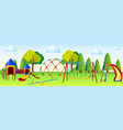 playground scene with play stations vector image vector image