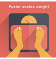 Poster Scales Weight vector image