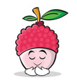 praying face lychee cartoon character style vector image vector image