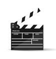 realistic cinema clapperboard vector image vector image
