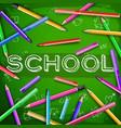 school green chalkboard vector image