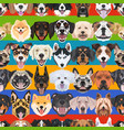 seamless pattern colorful dogs vector image vector image