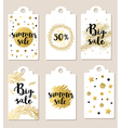 Set of summer glitter badges vector image vector image