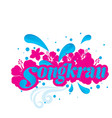 songkran songkran is thai culture pink flowers w vector image vector image