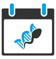 Sperm DNA Replication Calendar Day Toolbar vector image vector image