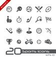 Sports Icons Basics vector image vector image