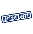 square grunge blue bargain offer stamp vector image vector image