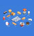 street food flowchart vector image vector image