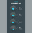 trendy step step infographics design vector image
