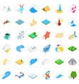 water creation icons set isometric style vector image vector image