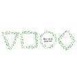 wedding eucalyptus horizontal design banner vector image vector image