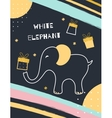 White Elephant Gift Exchange vector image vector image