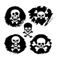 white piracy skull and crossbones icons vector image