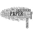 who created the first paper shredder asks office vector image vector image