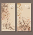 Wine list cards Menu cards sketch