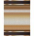 Background template copper metallic texture vector image