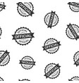 official seal stamp seamless pattern background vector image