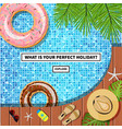 travel banner with swimming pool vector image
