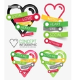 social like heart infographic tags vector image