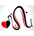 a broken heart with wave vector image