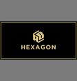 ab hexagon logo design inspiration vector image vector image