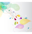 Abstract colored with flower petals and place for vector image vector image