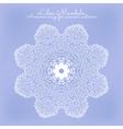 Amazing mandala of lilac flowers vector image vector image