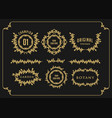 badge set bundle border flourish vector image