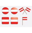 badges with flag of Austria vector image vector image