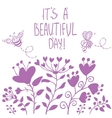 beautiful flowers silhouette vector image vector image
