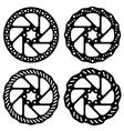 bike brake disc black silhouette vector image vector image