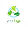 bio organic logo vector image vector image