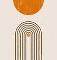 burnt orange sun print boho minimalist printable vector image vector image