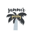 card with calligraphy lettering summer party vector image vector image