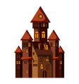 castle icon cartoon style vector image vector image