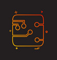 circuit board icon design vector image