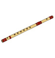 Classic bamboo flute vector image vector image