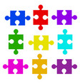 color puzzle elements vector image