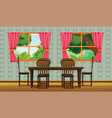 Colorful dining room vector image vector image