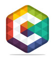colorful hexagon logo vector image